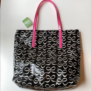 NWT Kate Spade Bon Shopper Black Bow Tote